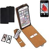 K-S-Trade Flipstyle Case für Allview V2 Viper i4G Schutzhülle Handy Schutz Hülle Tasche Handytasche Handyhülle + integrierter Bumper Kameraschutz, schwarz (1x)