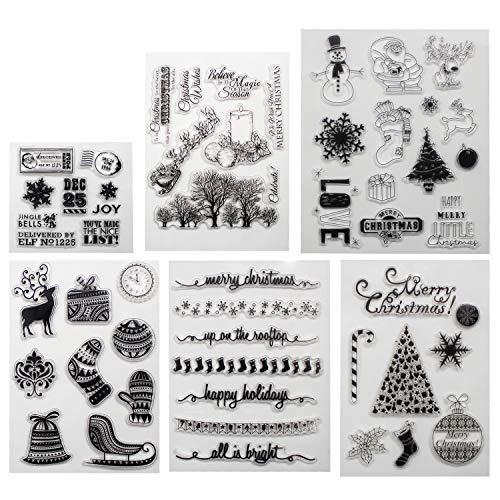 b-sin CLEAR STAMPS für Weihnachten Thema DIY Scrapbooking Dekoration Karten Herstellung Merry Christmas Clear Stamps