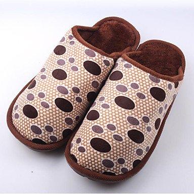 Sandales d'été hommes décontractées Fleece Chaussons Brown / gris Gray