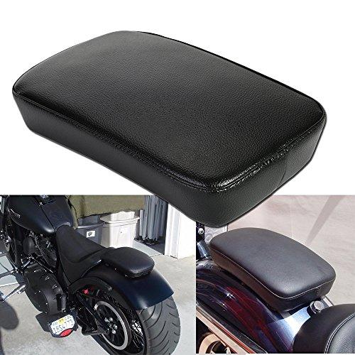 OSAN Ventosa para Pasajero-Cojin Rectangular Harley Custom Chopper, Color Negro