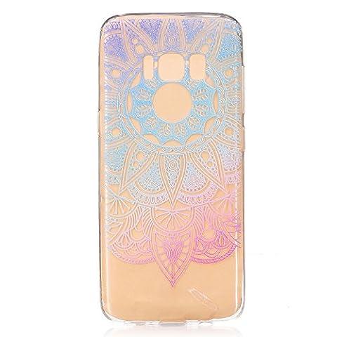 Fanryn Schutzhülle / Cover / Case Bunte Muster Weich TPU Handy Hülle Durchsichtig Transparent Etui Cover Protective Shell Soft Schutzhülle Telefon Kasten für Samsung Galaxy S8 – RX-10
