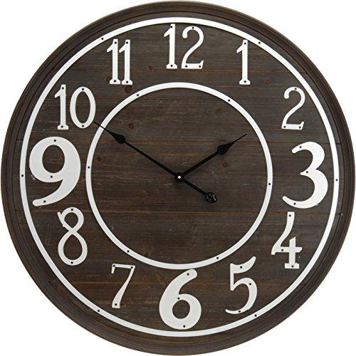 Horloge murale - 80 cm - Bois foncé