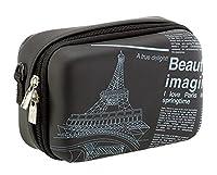RIVACASE Riva 7051 PU Case for Video Camera - Black/Newspaper