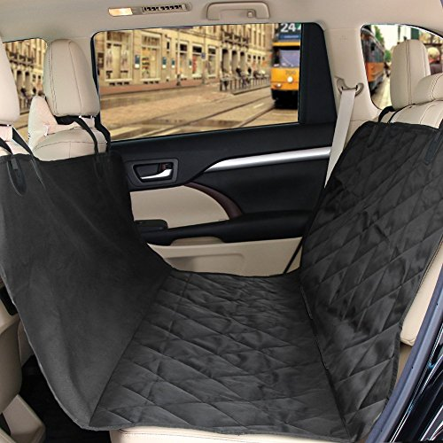 Pet Car Seat Cover Zellar Universal Waterproof 2 In 1 Dog Rear Nonslip Rubber Backing With Anchors And Adjustable Belt For Most Cars
