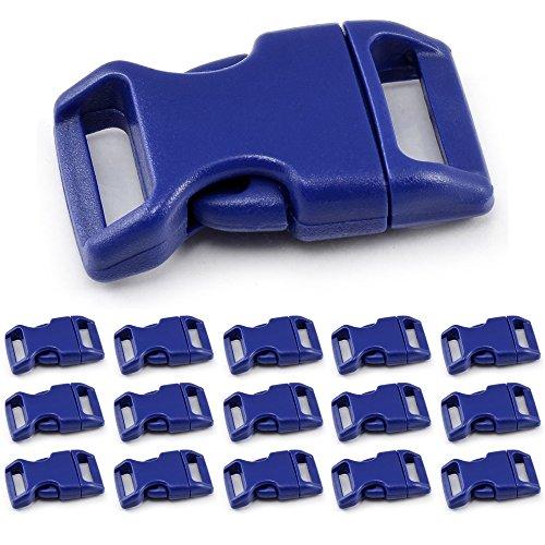 Klickverschluss Set 5/8' (15mm breit) aus Kunststoff / Klippverschluss / Steckschließer / Steckverschluss für Paracord-Ärmbänder, Hunde-Halsbänder, Rucksack,...