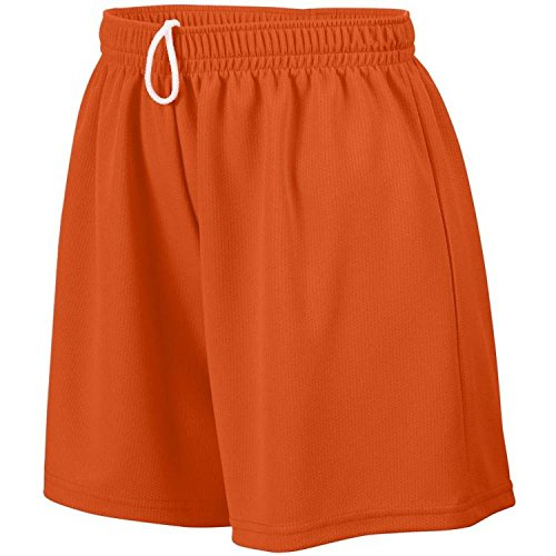 Girl's Wicking Mesh Short ORANGE M (Wicking Mesh Mädchen Augusta)