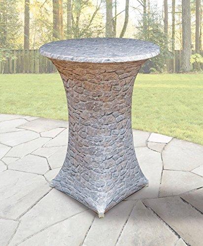 Stretch Tischhusse mit edlen Designs für Stehtisch 70-85 cm Durchmesser (Stein)