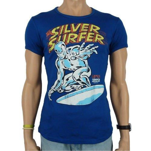 Logoshirt Marvel Silver Surfer Camiseta Slim Fit Azul Talla M