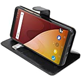 ebestStar - Coque Wiko View Prime Etui PU Cuir Housse Portefeuille Porte-Cartes Support Stand, Noir [Appareil: 152.3 x 72.8 x 8.3mm, 5.7'']