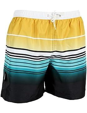 LUVANNI Herren Badeshorts Beachshorts Boardshorts Badehose gestreift