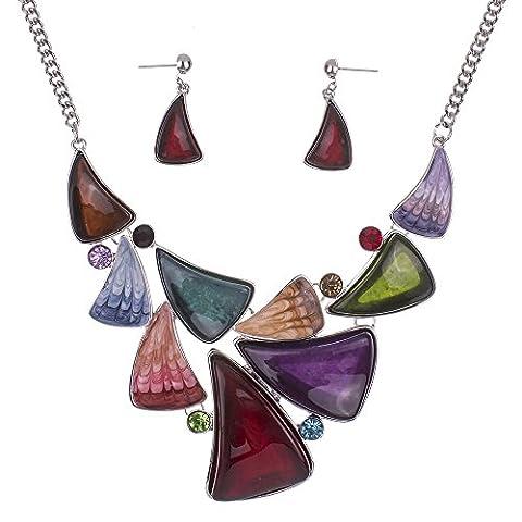 valoxin (TM) ms15042394ensembles de couleur boucles d'oreilles bijoux de haute qualité collier pour femme Fashion pour femme mariage treeleaf Jewelry Party Gifts, 10K Gold plated