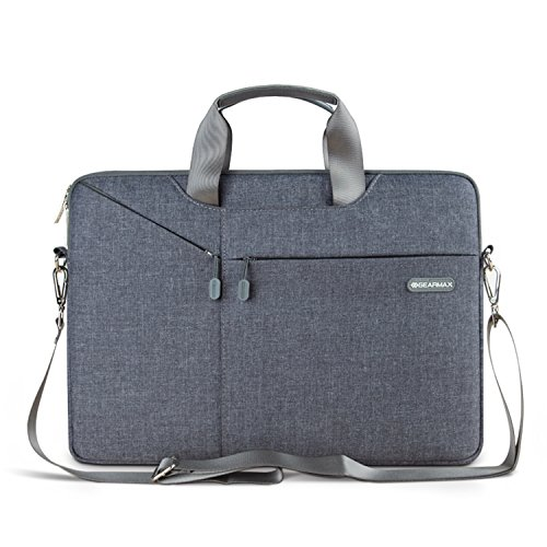 11,6 / 12 Zoll Laptop Tasche, EKOOS Business Notebook Tasche Hülle Sleeve Einfache Stil Wasserdichte Notebook Sleeve für Microsoft Surface Pro 2017, 4/3/2 Macbook Air 11,6 Zoll (11.6 / 12,Grau)