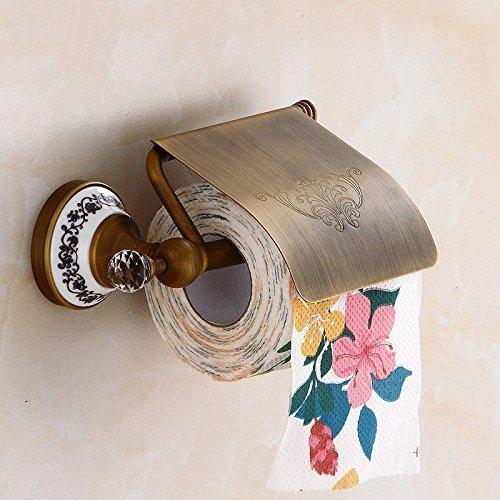Guoey asciugamani door-paper cristallo ceramico in rame puro hardware carta igienica bagno top di gamma quadro di carta igienica antiquariato