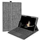 Fintie Microsoft Surface Go Hülle - [Multi-Sichtwinkel] Hochwertige Kunstleder Schutzhülle Tasche Etui Cover Case mit Stylus-Halterung für Surface Go (10 Zoll) 2018 Tablet-PC, Stoff Hellgrau