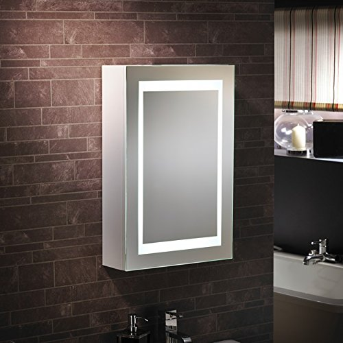 u201cLuganou201d u2013 LED Bathroom LED Mirror Cabinet ... & Luganou201d u2013 LED Bathroom LED Mirror Cabinet Illuminated Mirror u2013 H60cm ...
