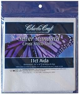 Silver Label Aida 11 Count 12''X18''-White