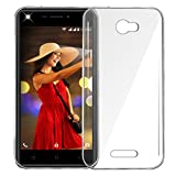 Jkobi Exclusive Soft Silicone TPU Jelly Crystal Clear Case Soft Back Case Cover For Intex Aqua Lions 3 -Transparent
