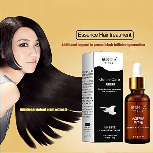 Essence de Soins Capillaires, KISSION Croissance des Cheveux Huile Essentielle Essence d'origine Sérum Croissance des Cheveux DenseLiquide Cheveux de Soin