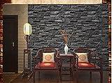 Papier peint style 3D modèle papier peint chambre salon TV fond brique brique brique de mur , black