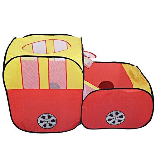 Cosanter Kinderspielzelt Beweglicher Kinder Baby Bällebad Ball Kinder Spielzeug Spiel Zelt Super großes Auto Modell Spiel Haus für Drinnen und Draußen (Autos Super Modelle)