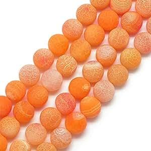 Perlin - Edelsteine Achat Perlen 10mm Matt Gelb Orange