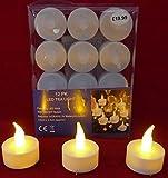 Katomi LED-Deckenleuchte, 12 Stück LED Teelichter,...