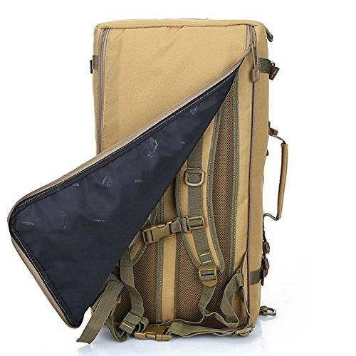 YAAGLE Herren großer Reiserucksack Wanderruncksack multifunktional Bergsteigen-tasche Schultertasche Trekking-Rücksack Tarnung 3