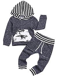 HAOKTY Baby Jungen Trainingsanzug Sweatshirt + Sweathosen Set Kinderbekleidung Frühjahr und Herbst Kleidung Outfits