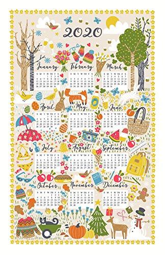 Ulster Weavers Seasonal Cotton 2020 Calendar Tea Towel Made in Ireland