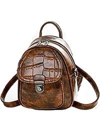 Bolso de cocodrilo, pequeña mochila de moda multifunción, bolso de hombro, bolsa de