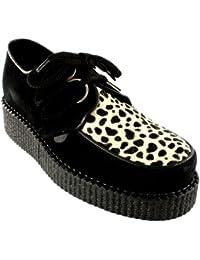 Mujer Underground Creepers Wulfrun Cuero Retro Punk Godo Zapatos Nuove
