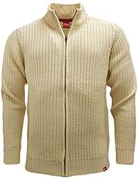 Pour les Pulls D555Câble point–Pull tricot d'hiver en tricot Ecru L