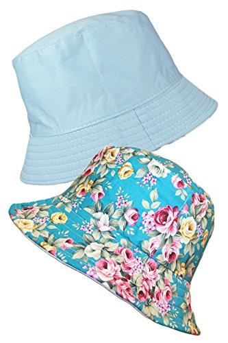 8465114edb6 TOSKATOK® LADIES REVERSIBLE FLORAL COTTON BUSH BUCKET SUN HAT - Buy Online  in Oman.