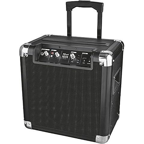 Trust Urban Fiesta Plus - Altavoz/amplificador inalámbrico con Bluetooth y micrófono, 50 W RMS,