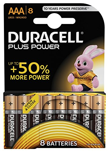 Duracell Plus Power Typ AAA Alkaline Batterien, 8er Pack