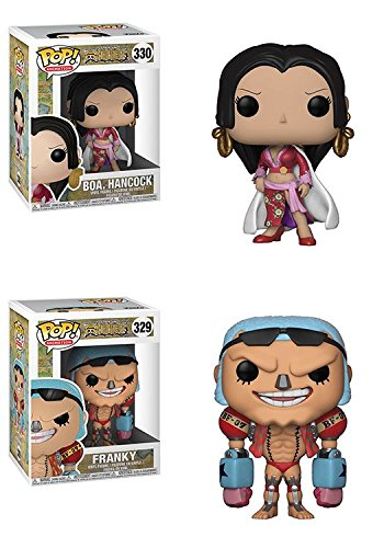 Funko POP! One Piece: Boa. Hancock + Franky - Stylized Vinyl Figure Set NEW