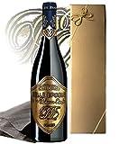 Luxus Weingeschenk für Bordeaux-Liebhaber | Belle Epoque á la Maison Laufèr Rotwein (0,75L) im Geschenkset gold (Frankreich) Syrah im Eichenholzfass gereift