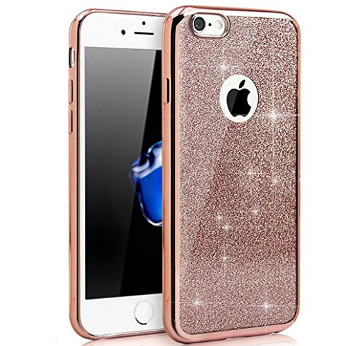 Custodia iPhone 5S, Cover iPhone 5, Yoowei® diamante di Bling Custodia Chiaro Cristallo Ultra Sottile Morbido Placcatura TPU Gel Case Cover per Apple iPhone SE/5/5s, Oro Gold