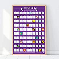 Gift Republic 100 Board Games Bucket List Poster, Purple