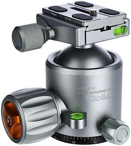Rollei Lion Rock Stativkopf 25 - Robuster 360° Panorama Kugelkopf aus Aluminium mit Einer