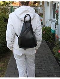 Sac à dos confortable b5129 cityrucksack neuf-noir-cuir nappa branco