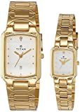 Titan NH19552955YM01 Bandhan Analog White Dial Couple Watch (NH19552955YM01)