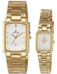 Titan Bandhan Analog White Dial Unisex Watch - NE19552955YM01