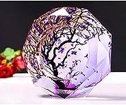 XYXK Ash Tray Bin Crystal Cigarette Ashtray, Crystal Ashtray for Cigarettes Beautiful Decorations for Homes, C