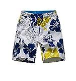 Nuoqi® Hommes Nager Plage Shorts de bain Été Shorts (4XL, KZ41-WT)