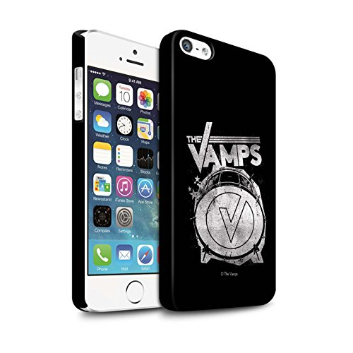 Offiziell The Vamps Hülle / Matte Snap-On Case für Apple iPhone 5/5S / Pack 6pcs Muster / The Vamps Graffiti Band Logo Kollektion Bassdrum