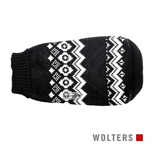 Wolters Norweger Pullover für Mops&Co 30cm schwarz/weiss