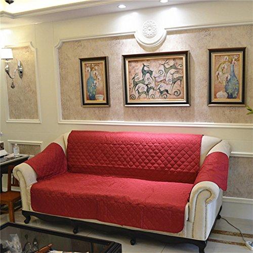 Hm&dx impermeabile copertura divano per animali domestici cane,trapuntato antiscivolo resistente all'acqua antimacchia copridivano mobili coperture per salotto divano componibile-rosso poltrona