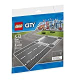 Lego 7280 City Town Straight and Crossroad Plate Building Kit, Multi Color