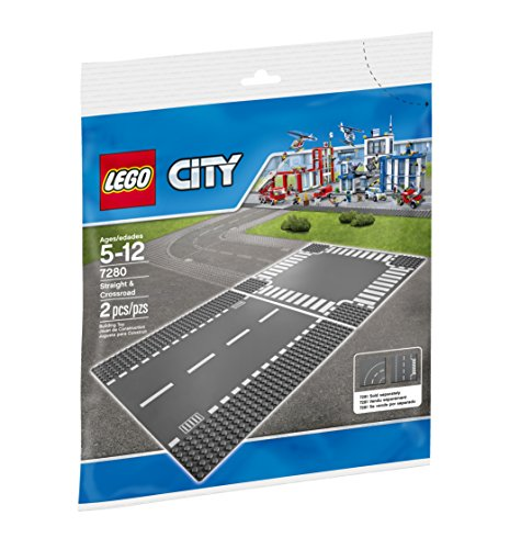 LEGO City Town Straight and Crossroad Plate 7280 Building Kit by LEGO